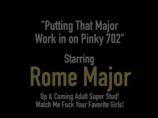 Big Black Cock Rome Major Bangs Blonde Babe Pinky 702!