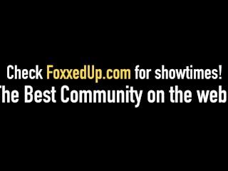 Ebony Jenna Foxx, Tana Lea & Savana Styles Dildo Drill & Cum