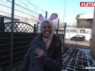LETSDOEIT - German Easter Bunny Model Gets Fucked Hard At Casting