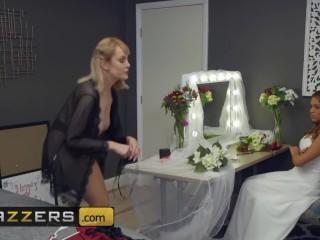 Brazzers - Blonde big tits bridesmaid Maxim Law cucks the bride to be