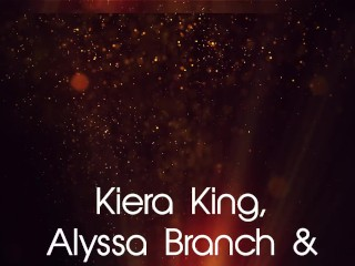 Lesbian Trio Kiera King Alyssa Branch & Zoey Foxx Dildo Fuck