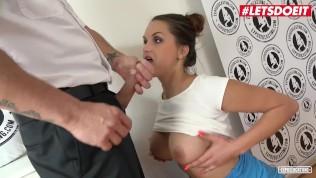 LETSDOEIT - Busty Babe Barbara Bieber Cum Covered At Porn Casting