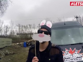 LETSDOEIT - Easter Bunny Anny Aurora Gets Fucked Hard In The Back Of a Bus