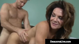 Busty Texas Cougar Deauxma Rides Young Stud's Hard Cock!