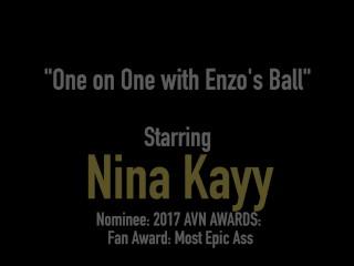 Nympho Nina Kayy Super Fucks Her Coach's Big Black Cock!