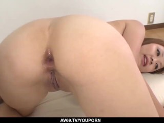 Asami Hoshikawa gets ass fucked in dirty threesome - More at 69avs.com