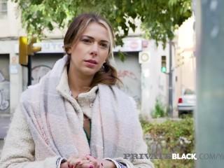 PrivateBlack - Sexy Ani Blackfox Fucks Black & White Cocks!