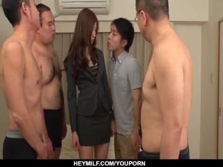 Rina Koda gets massive cocks to play with on cam - More at Japanesemamas.com