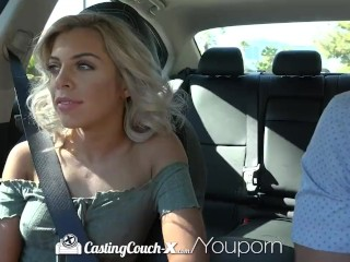 CASTINGCOUCH-X Curly Haired Blonde Fucks Casting Agent