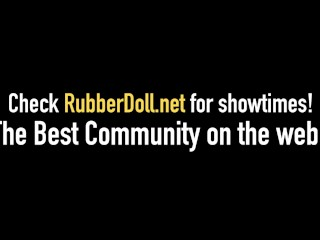 Dom Divas RubberDoll & Kendra James Dildo Fuck Under Neons!