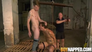 Master Sebastian spanks sub while his throat gets fucked