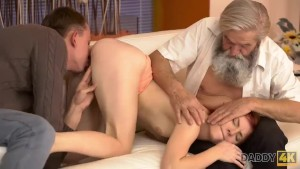 DADDY4K. Old man will never forget juicy young sissy of sons girl