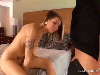Romantic Hotel Sex For Straight Teen Couple