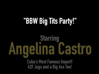 Huge Boobed BBWs Angelina Castro & Sofia Rose Rub Pussies!