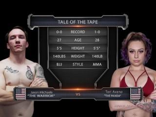 Tori Avano naked wrestling fight winner fucks loser