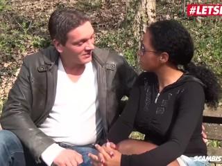 LETSDOEIT - Busty Italian Ebony Fucks Her Lover In The Park