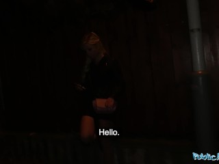 Public Agent Stunning German blonde babe paid to fuck