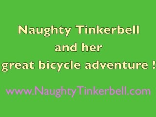 Tinkerbell has rampant masturbation adventure fucking her holes with butt plug and bicycle saddles
