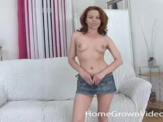 Hairy redhead amateur cutie loves being fucked hard