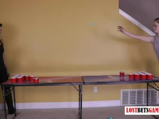 Ever heard of Strip Beer Pong? Now you have!