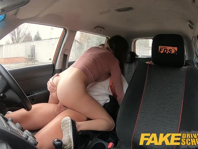 Redhead Fake Driving School