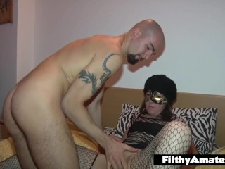 Homemade orgy with anonymous cum-drinking wife