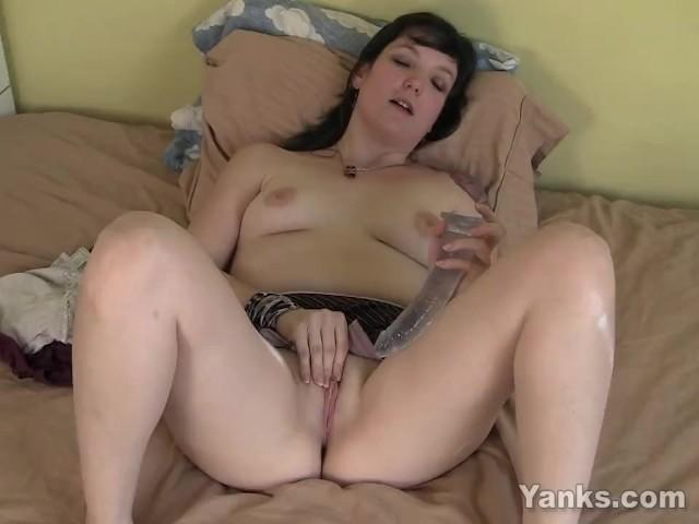 Yanks Brunette Cherry Marie's Big Dildo