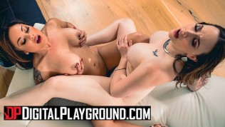 Digital Playground - thicc milf Chanel Preston gets her pussy eaten by asain housewife Kaylani Lei