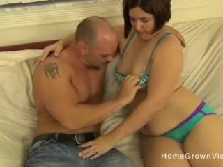 chubby brunette amateur slut licked then fucked