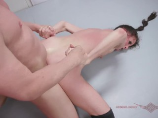 Sofie Marie mixed nude wrestling gets rough hard pussy fucking