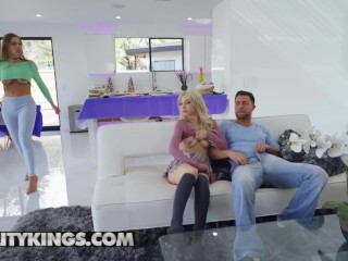Reality Kings - Big tit Stepmom Britney Amber dominates teen Kenzie Reeves and her bf