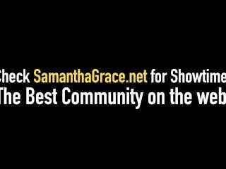 Sexy Babes Samantha Grace & Chrissy Daniels Dildo Fuck & Cum
