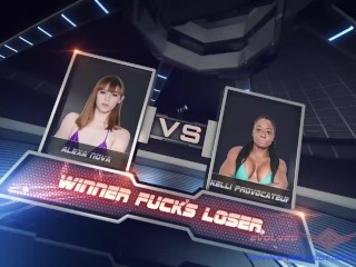Ebony/wrestling kelli vs lesbian sex