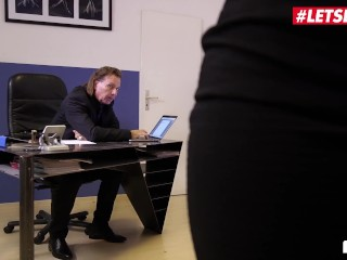 LETSDOEIT - Hot Ebony Secretary Drilled By Mature Boss In The Office