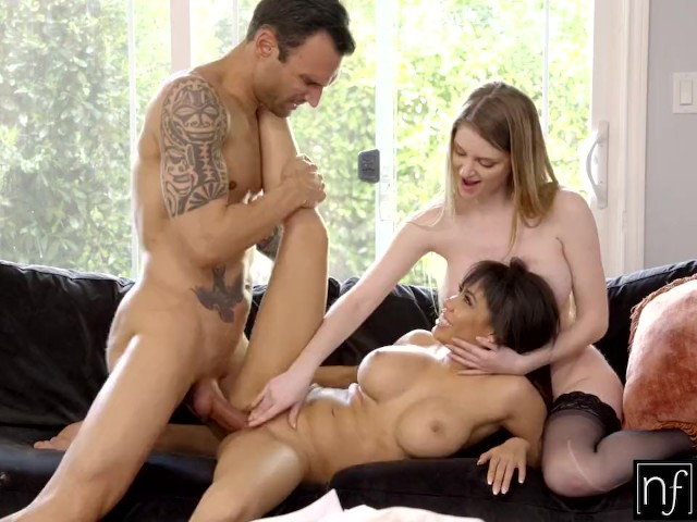 Horny Wife Seduces Big Tit Housekeeper for Hot Threesome S9:E3