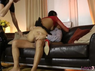 Milf Watches Teen Get Her Tight Pussy Drilled