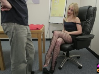 Fullyclothed/femdom blonde cock naughty sexy