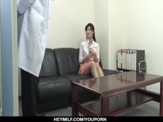 Fantasy sex with the doc for Sara Yurikawa - More at Japanesemamas.com