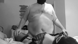 Straight Chub Humping Kinky Wife in leather