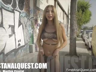 Ukrainian Teen Marilyn Crystal Adores Hard Anal