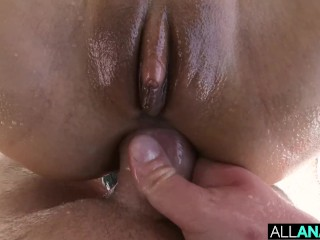 ALL ANAL Ass gaping threeway with Cassie and Nelly