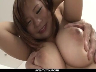 Konatsu Aozona shakes cock in each of her tight holes - More at 69avs.com