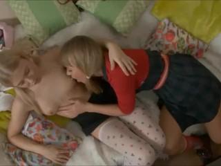 Lesbian Vibrating Dildo Teen Masturbation