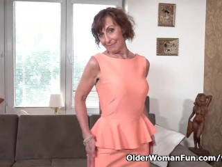 64-year-old Euro granny Danina is a passionate masturbator