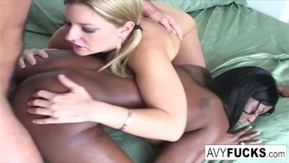 Czarny getto łup porno
