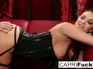 Hot pornstars in a fetish strap-on scene
