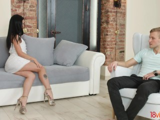 18videoz - Cassie Fire - Teeny fucking with a new lover