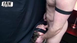 RawFuckBoys - Bearded muscle hunk face fucks blindfolded jock