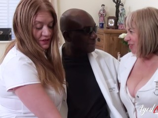 Agedlove Two Horny Nurses And Huge Black Cock