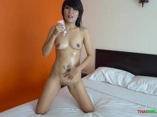 Skinny Thai girl pounded by my hard cock!